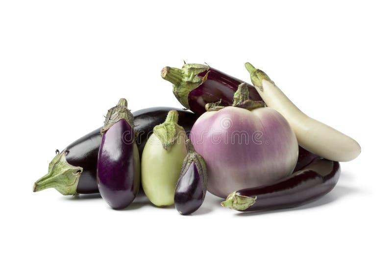 Samenstelling van aubergines royalty-vrije stock afbeelding