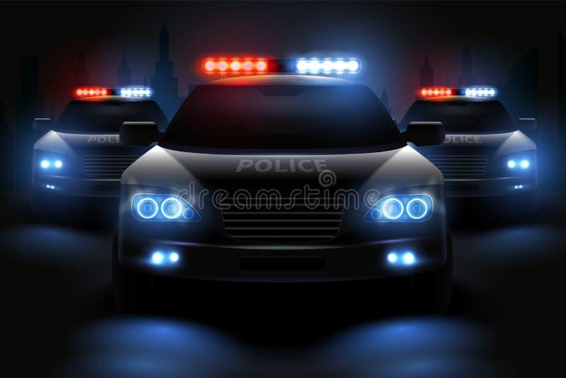 Samenstelling van de politie de Lichte Bar royalty-vrije illustratie