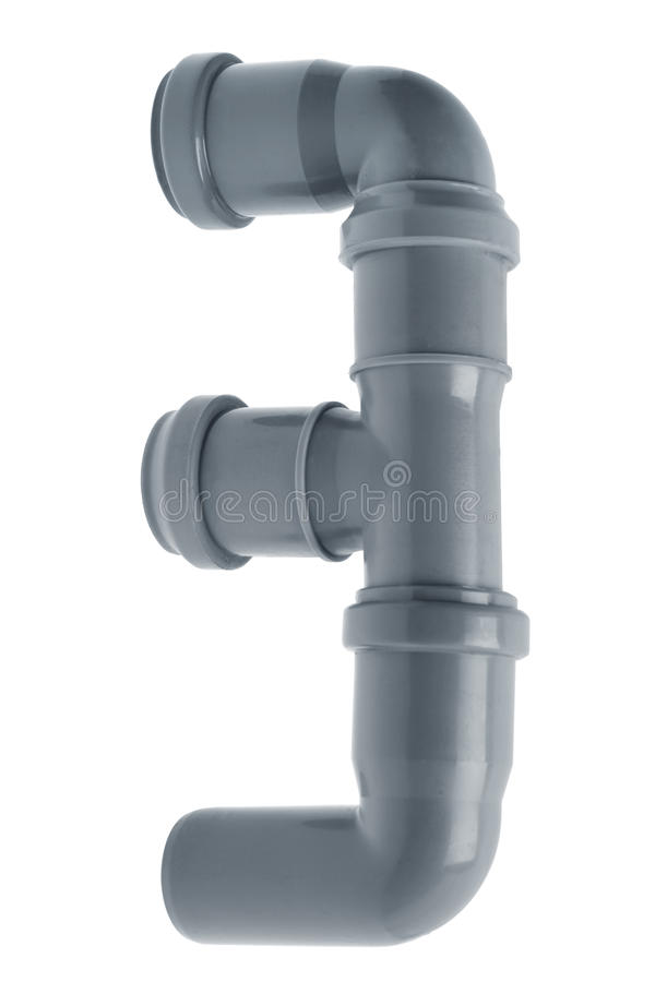 Samenstelling van drie de plastic rioolpijpen stock afbeelding