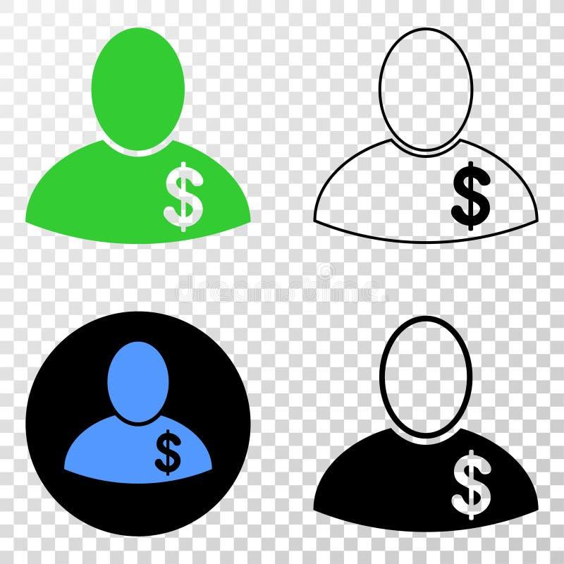 Samenstelling van Gradiented Gestippelde Bankier en Grunged-Zegel royalty-vrije illustratie