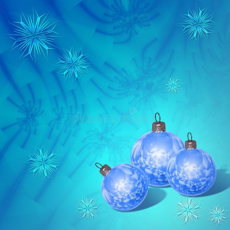 Samenstelling van Kerstmisballen royalty-vrije illustratie