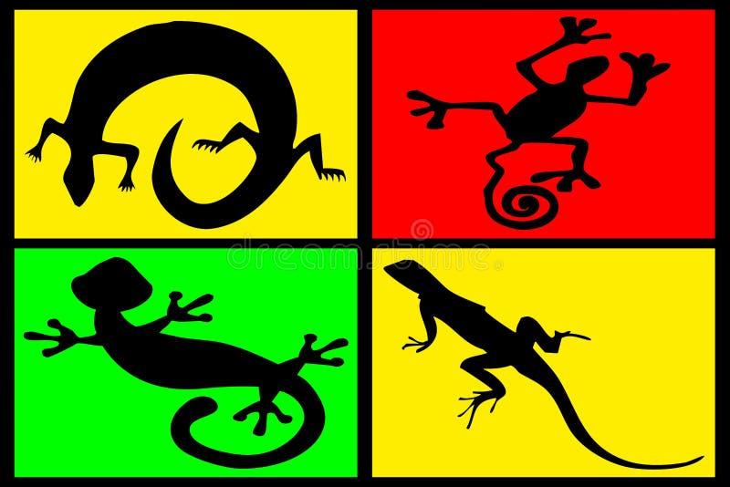 Samenstelling van reptielen stock foto