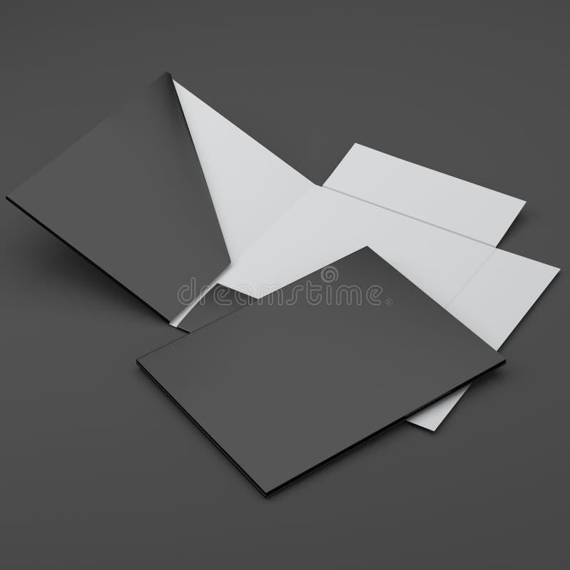 Samenstelling van zwarte omslagen stock afbeelding