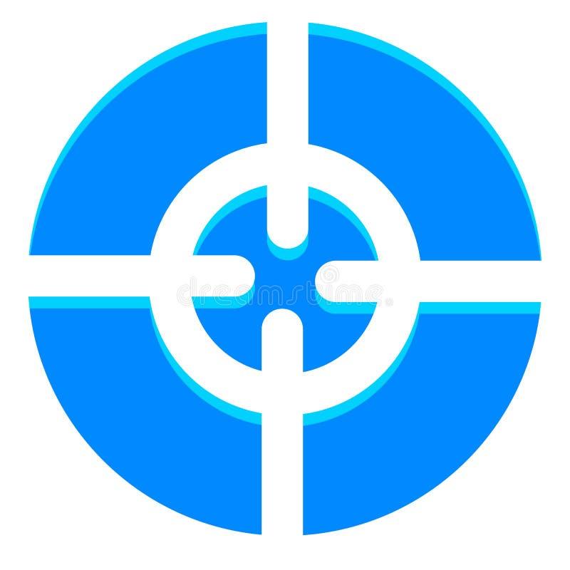 Samenvatting crosshair, het pictogram van het doelteken met regelbaar hoogtepunt vector illustratie