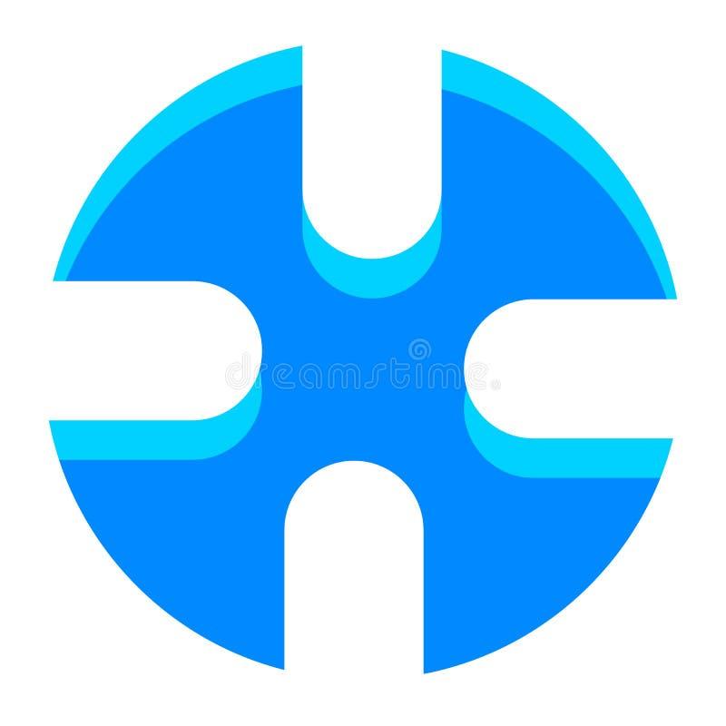 Samenvatting crosshair, het pictogram van het doelteken met regelbaar hoogtepunt stock illustratie