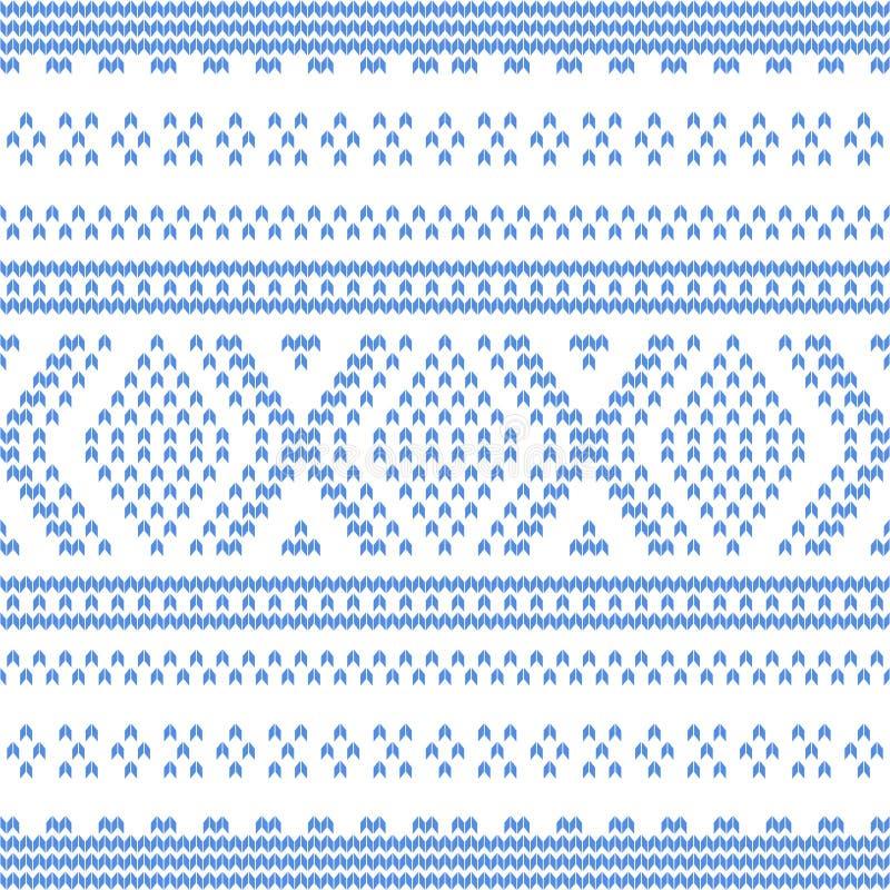 Samenvatting Gebreide Patroon Vectorillustratie vector illustratie