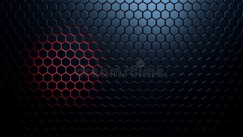 Samenvatting gefacetteerde achtergrond met gekleurd backlight stock illustratie