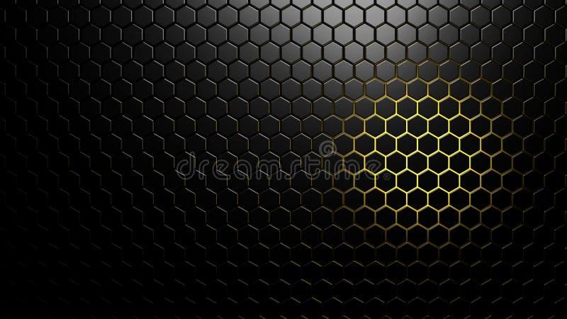 Samenvatting gefacetteerde achtergrond met gekleurd backlight vector illustratie