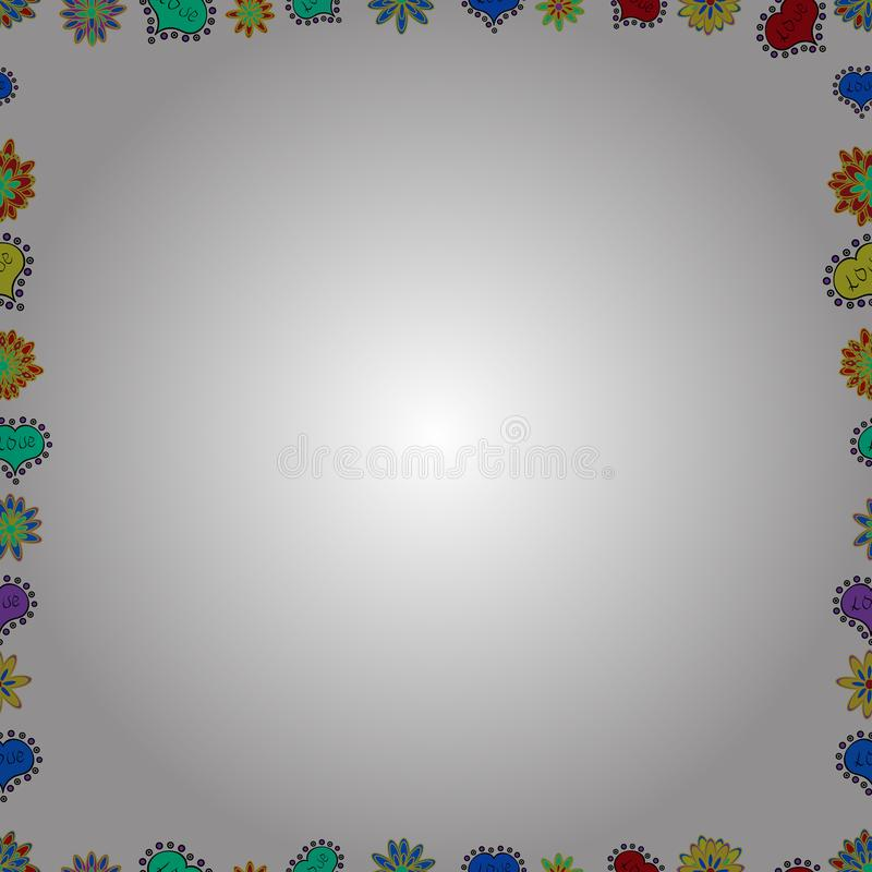 Samenvatting gekleurd beeld royalty-vrije illustratie