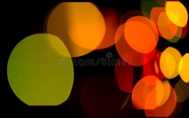 Samenvatting gekleurde bokeh texturen stock fotografie