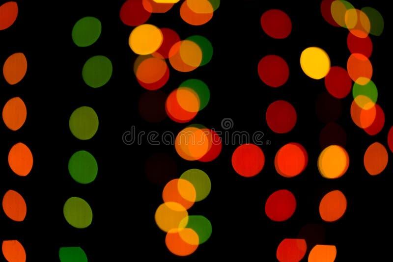 Samenvatting gekleurde bokeh texturen stock foto