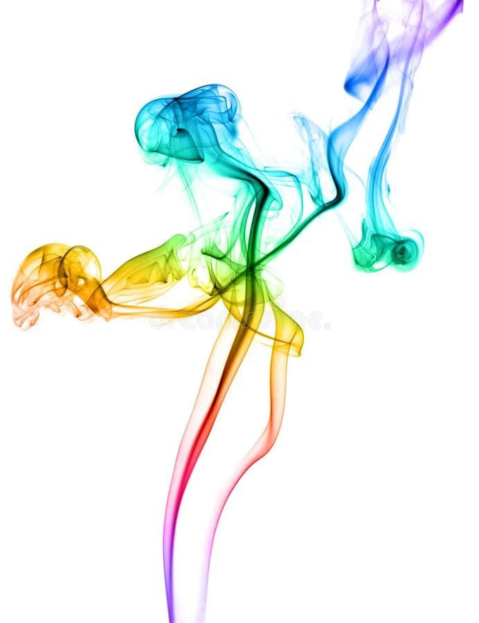 Samenvatting gekleurde dansende rook royalty-vrije stock foto's