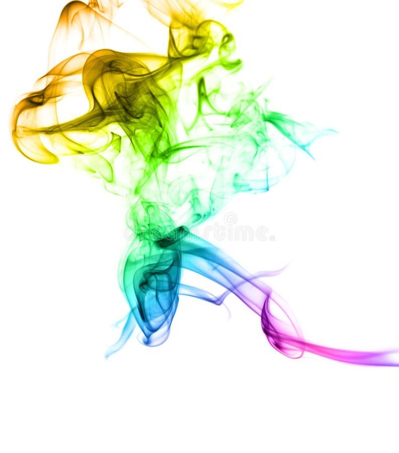 Samenvatting gekleurde rook stock foto's