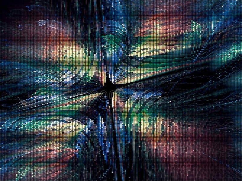 Samenvatting gekleurde vectorachtergrond - technologie of feestelijk thema stock illustratie