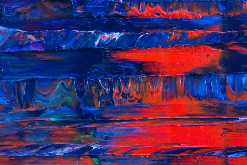 Samenvatting geschilderd canvas Olieverven op een palet royalty-vrije stock foto