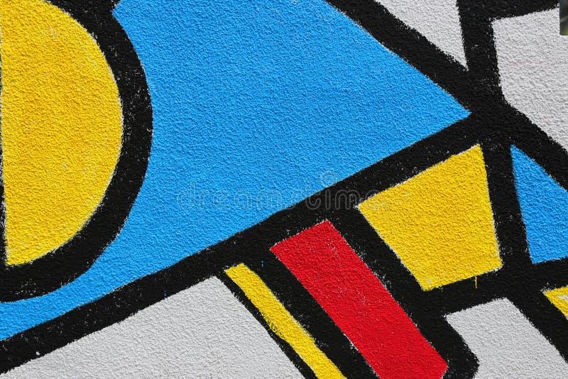 Samenvatting geschilderde muuroppervlakte stock afbeelding