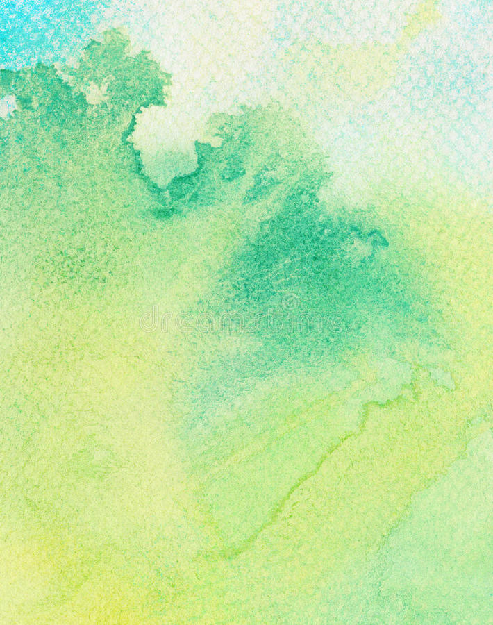 Samenvatting geschilderde waterverfachtergrond stock afbeelding