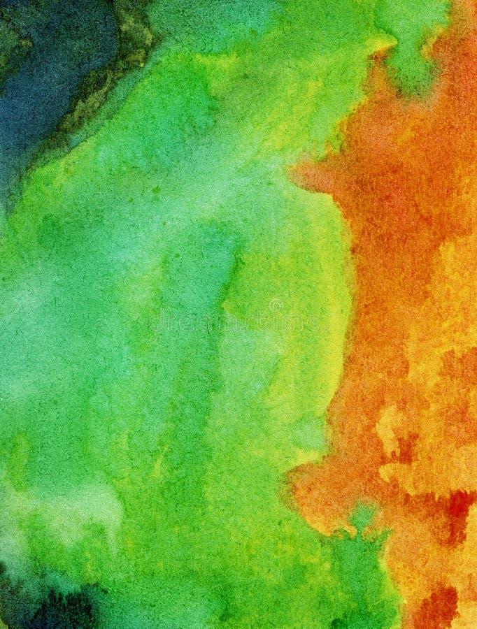 Samenvatting geschilderde waterverfachtergrond royalty-vrije illustratie