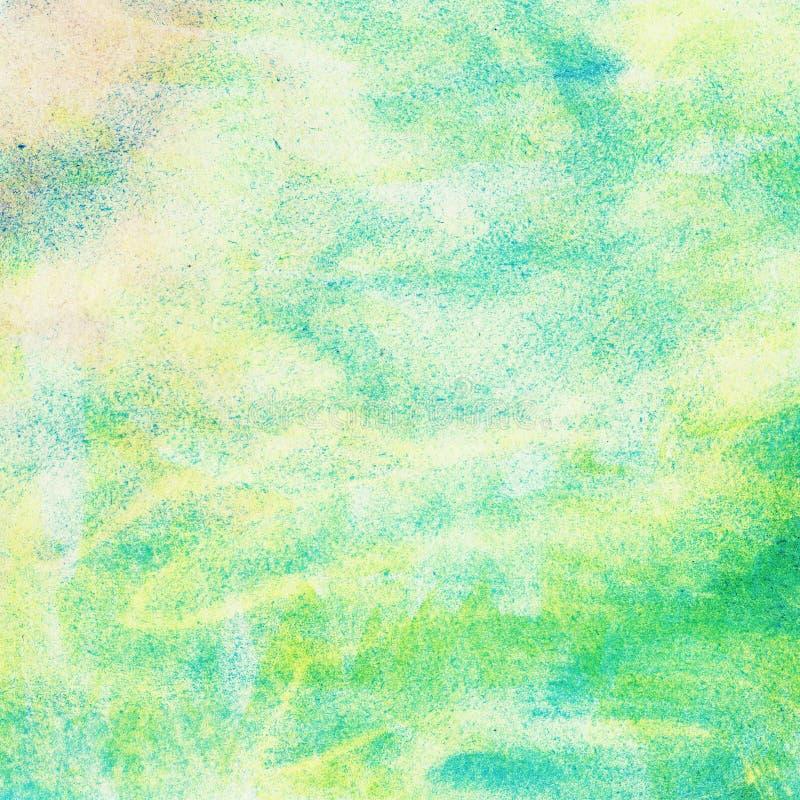 Samenvatting geschilderde waterverfachtergrond stock illustratie