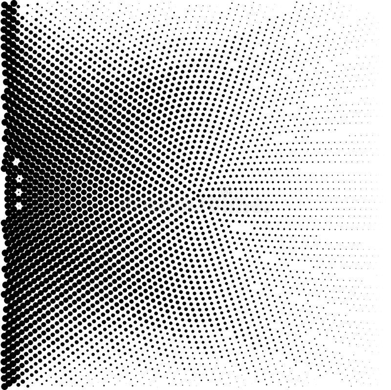 Samenvatting gestippelde achtergrond Halftone effect Vector textuur Moderne Achtergrond Zwart-wit geometrisch patroon Stroken van stock illustratie