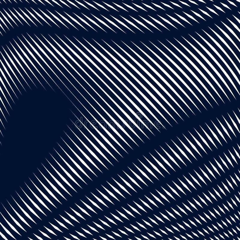 Samenvatting gevoerde achtergrond, optische illusiestijl Chaotische lijnen stock illustratie