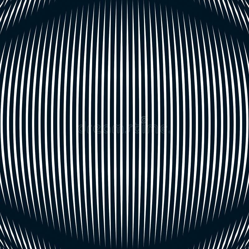 Samenvatting gevoerde achtergrond, optische illusiestijl Chaotische lijnen royalty-vrije illustratie