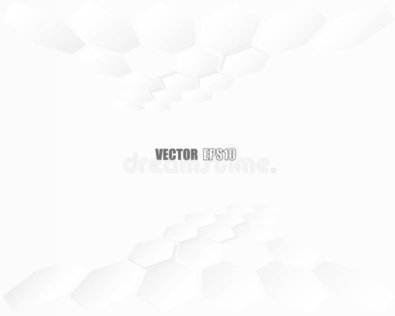 Samenvatting Hexagon geometrisch document witte Achtergrond, licht en schaduw Vector stock foto