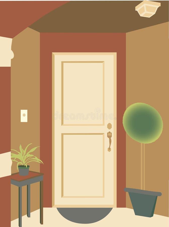 Samenvatting hoekige de installatiesmat van de deuropeningsingang vector illustratie