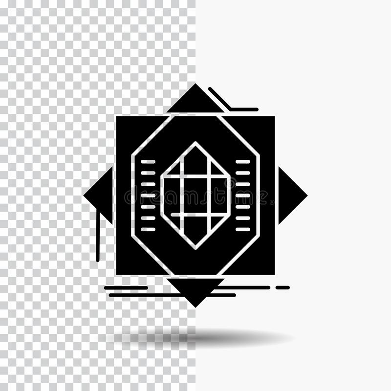 Samenvatting, kern die, vervaardiging, vorming, Glyph-Pictogram op Transparante Achtergrond vormt Zwart pictogram vector illustratie