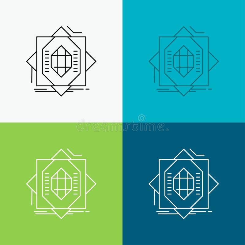 Samenvatting, kern die, vervaardiging, vorming, Pictogram over Diverse Achtergrond vormen r Eps 10 stock illustratie