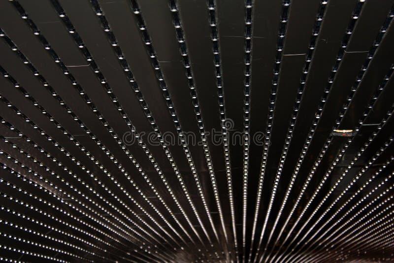 Samenvatting met rijen van lichten stock foto's