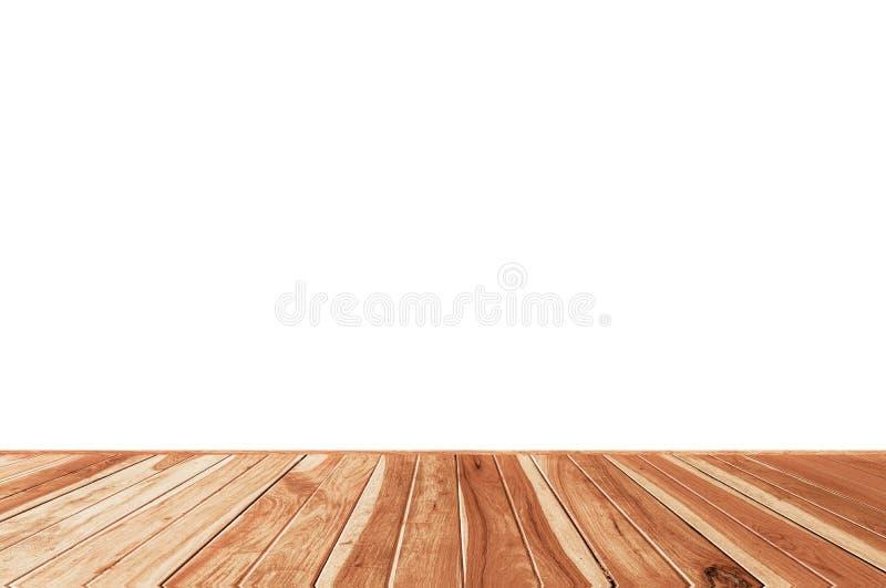 Samenvatting Natuurlijk op houten die lijst op witte achtergrond wordt geïsoleerd: monteringvertoning uw product royalty-vrije stock foto's