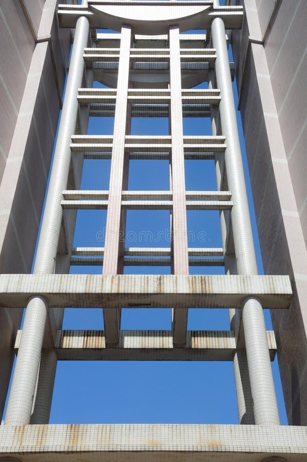 Samenvatting ontworpen flatgebouwen stock afbeelding