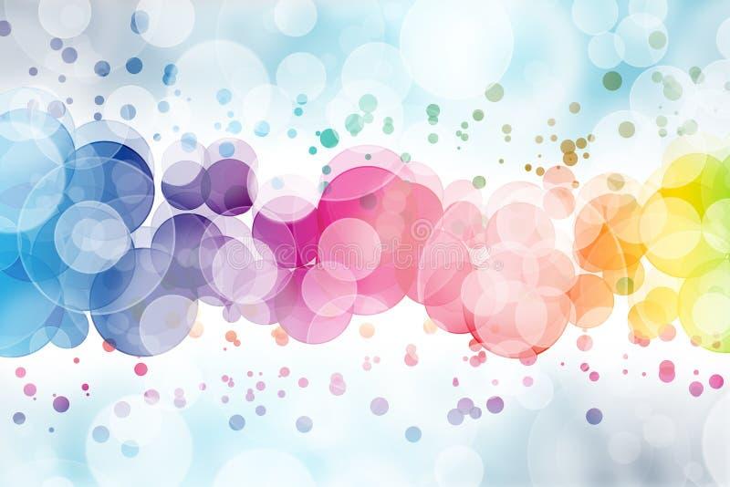Samenvatting op een kleurrijk achtergrond digitaal bokeheffect vector illustratie
