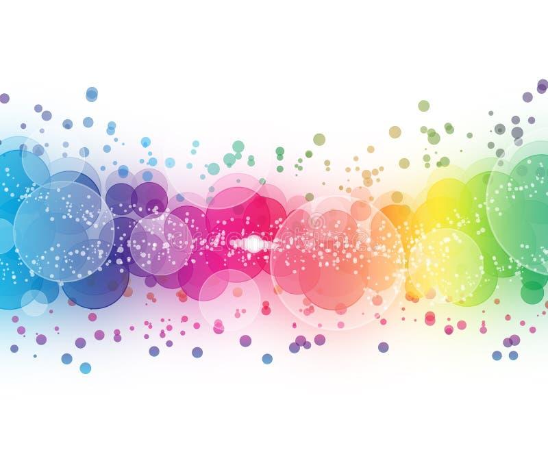 Samenvatting op een kleurrijk achtergrond digitaal bokeheffect royalty-vrije illustratie