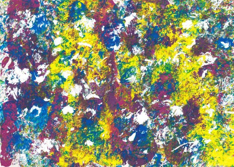 Samenvatting splodges van dapper gekleurde acrylverf royalty-vrije stock foto's