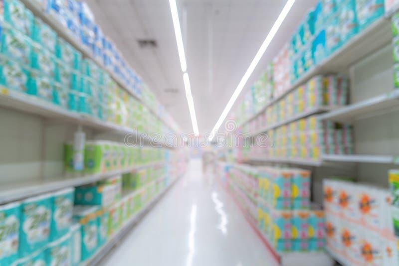 Samenvatting vaag beeld van winkelcomplexachtergrond stock fotografie