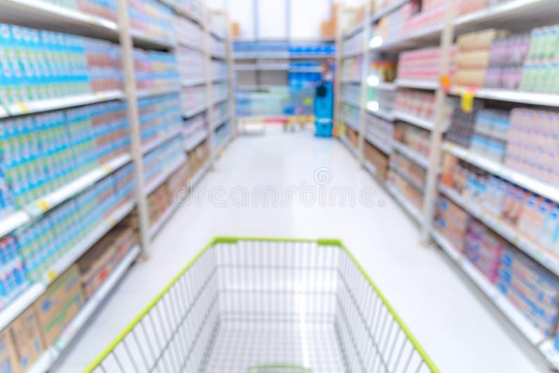 Samenvatting vaag beeld van winkelcomplexachtergrond royalty-vrije stock afbeelding