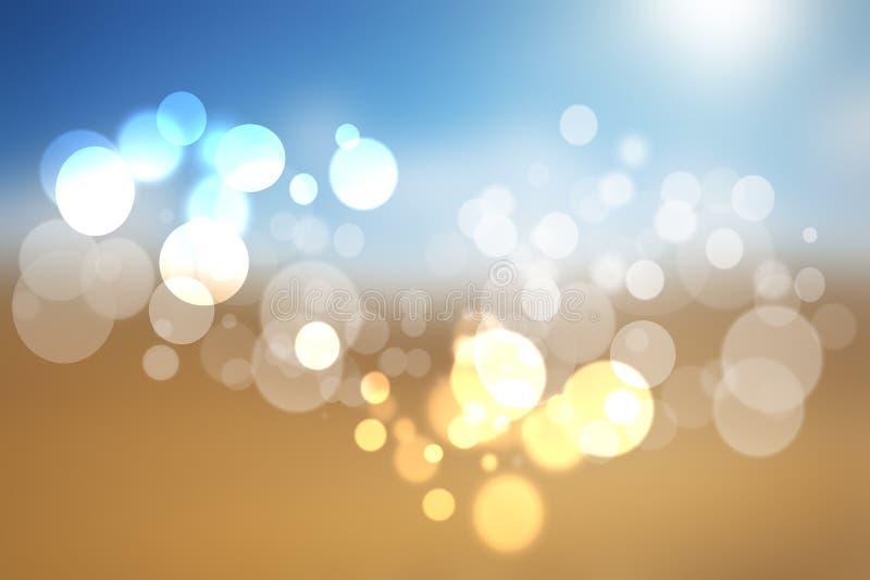 Samenvatting vaag de zomerpastelkleur gekleurd landschap met hemel en su royalty-vrije illustratie