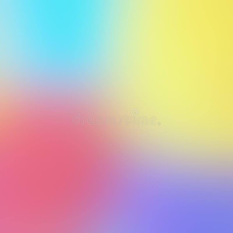 Samenvatting Vage Achtergrond van Multicolored Pastelkleuren stock illustratie