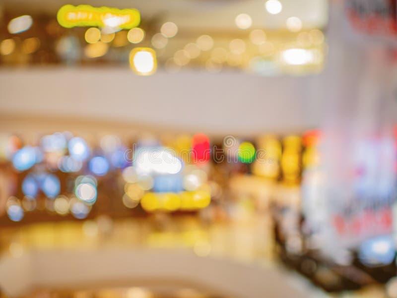 Samenvatting vage foto van het warenhuis stock foto