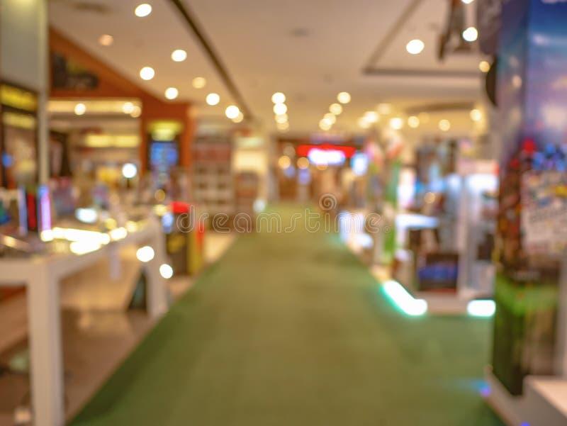 Samenvatting vage foto van het warenhuis stock afbeelding