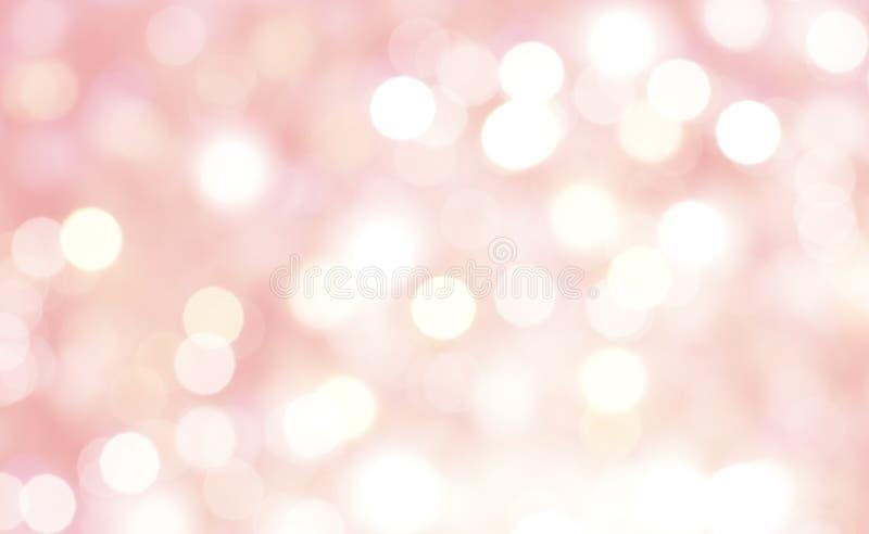 Samenvatting van achtergrond van de bokeh de roze pastelkleur royalty-vrije stock foto