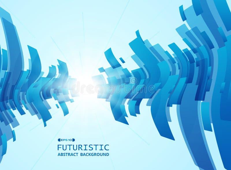 Samenvatting van achtergrond van het gradiënt de blauwe futuristische patroon vector illustratie