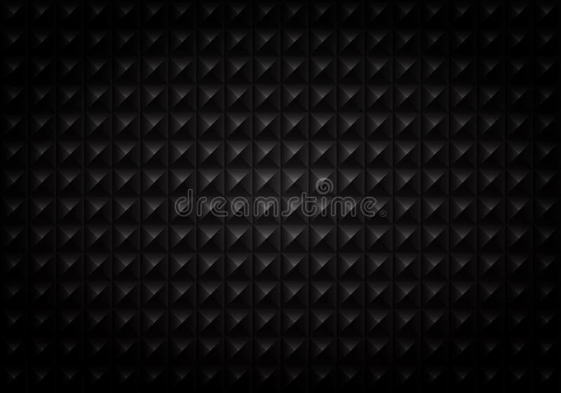 Samenvatting van achtergrond van het gradiënt de zwarte vierkante geometrische patroon vector illustratie