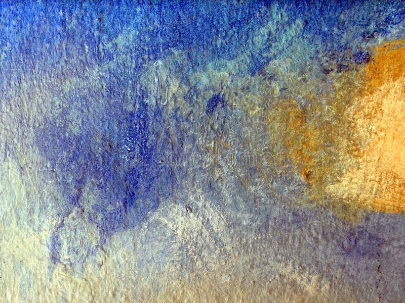 Samenvatting van geschilderde muuroppervlakte stock foto's