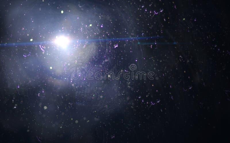 Samenvatting van het aansteken van digitale Blauwe lensgloed op donkere achtergrond royalty-vrije stock foto