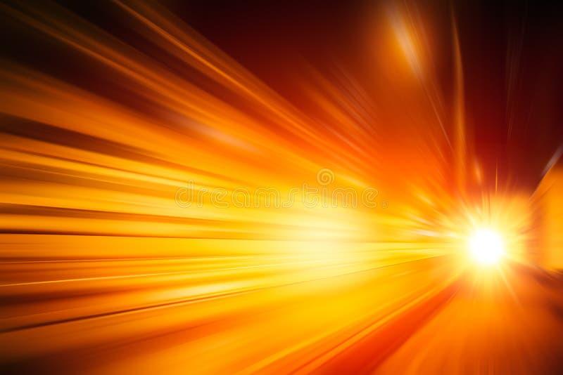 Samenvatting van het de snelheids lichteffect van de onduidelijk beeld de snelle beweging hallo stock foto's
