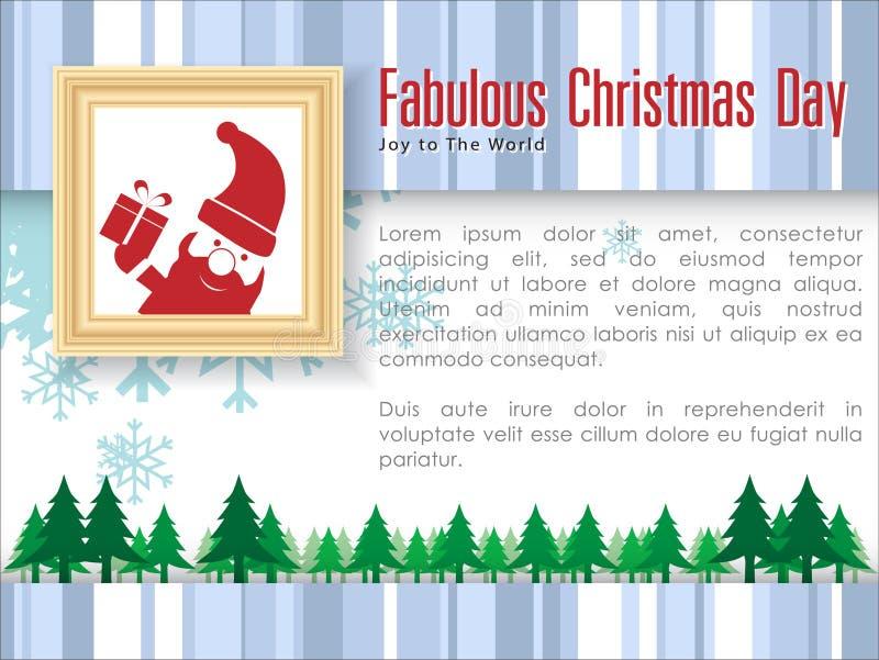 Samenvatting van Kerstmisachtergrond stock illustratie