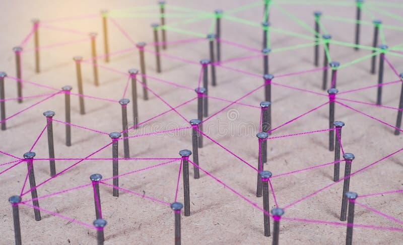 Samenvatting van Netwerk, sociale media, Internet en verbinding royalty-vrije stock afbeelding